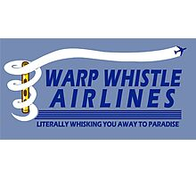 Warp Whistle Airlines Photographic Print