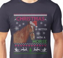 Ugly christmas 2017 with a horse Unisex T-Shirt