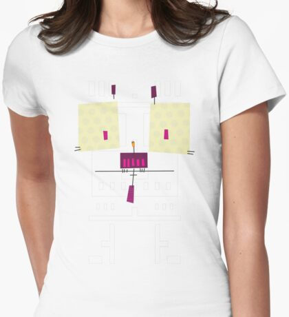 #04 - The Cute Owl Womens Fitted T-Shirt