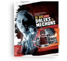 Dr. Who - Daleks vs Mechons - Movie Poster Artwork Canvas Print