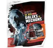 Dr. Who - Daleks vs Mechons - Movie Poster Artwork Poster