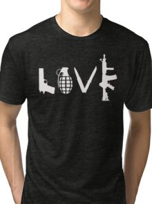 Love Guns Tri-blend T-Shirt