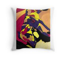 Dog of Many Colors Throw Pillow