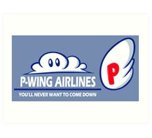 P-Wing Airlines Art Print