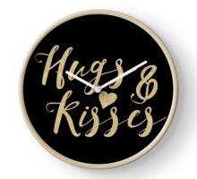 Hugs & Kisses - Gold Clock