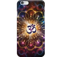 """""""The higher power of Om"""" - sacred geometry iPhone Case/Skin"""