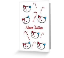 Meowie Christmas Candy Canes Greeting Card