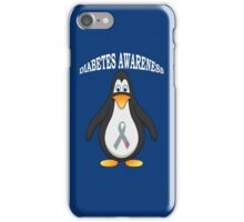 Big Boys Diabetes (Penguin) Youth white iPhone Case/Skin