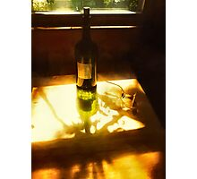 Sunshine Wine And Shadows   Photographic Print