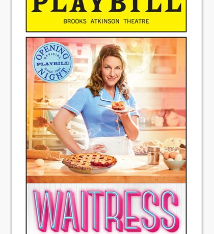 Waitress Opening Night Playbill Sticker