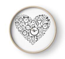 Hours heart Clock