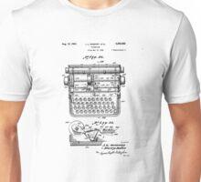 Patent - Typewriter Unisex T-Shirt