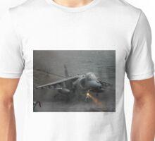 RAF Harrier landing onboard Unisex T-Shirt
