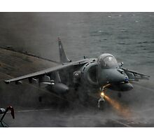 RAF Harrier landing onboard Photographic Print