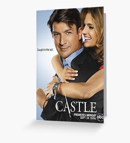 Castle and Beckett Greeting Card