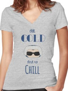Captain Cold Women's Fitted V-Neck T-Shirt