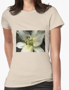 Sprarkling Raindrop Jewels On Beautiful Lily T-Shirt