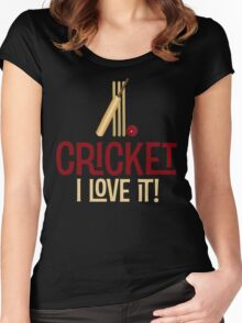 Cricket - I Love It T Shirt Women's Fitted Scoop T-Shirt