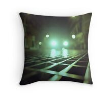 Grid city streets Hasselblad square medium format analogue film photograph Throw Pillow