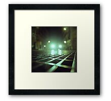 Grid city streets Hasselblad square medium format analogue film photograph Framed Print