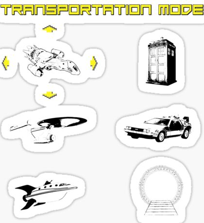 Sci-Fi Transportation Sticker