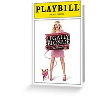 Legally Blond Playbill Greeting Card
