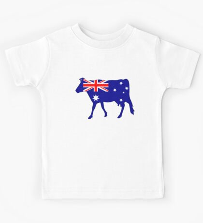Australian Flag - Cow Kids Tee