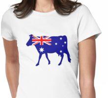 Australian Flag - Cow Womens Fitted T-Shirt
