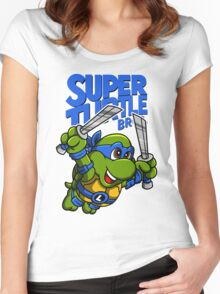 Super Turtle Bros - Leo Women's Fitted Scoop T-Shirt