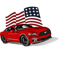 GT500 2016 Red USA Photographic Print