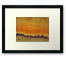 Dune Forest original painting Framed Print