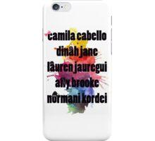 5H Names Splash! iPhone Case/Skin
