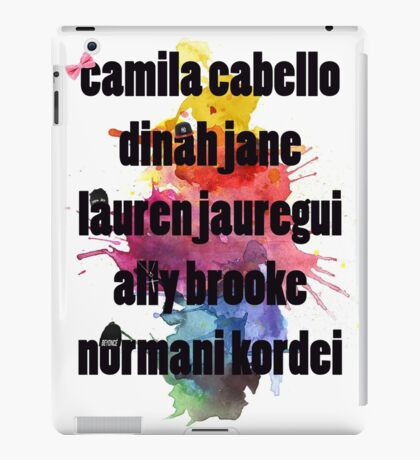 5H Names Splash! iPad Case/Skin