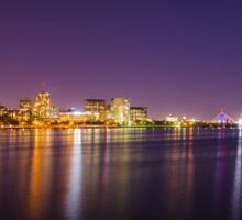 Boston Skyline at Night Sticker