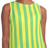 Stripes Green Yellow Contrast Tank