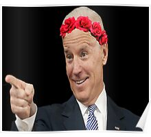 Joe Biden Flower Crown Poster