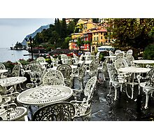 Outdoor Cafe in Varenna Photographic Print