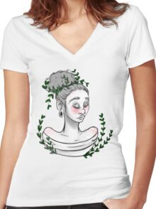 Ease Women's Fitted V-Neck T-Shirt