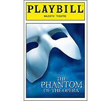 Phantom of the Opera Playbill Photographic Print