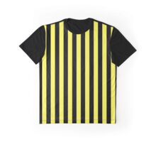 Stripes Yellow Black Graphic T-Shirt