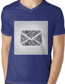 Letter from lips Mens V-Neck T-Shirt