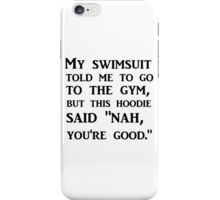 TO THE GYM iPhone Case/Skin