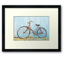 Barn find ....40 years rusted. Framed Print