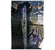 Vietnam War memorial on a sunny sunday morning  Poster