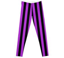 Stripes Purple Black Leggings