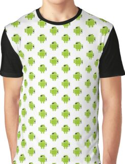 Pirate Android Robot Graphic T-Shirt