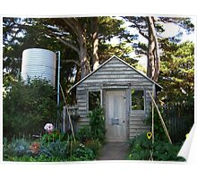 Garden Shed - Churchill Island Historic Gardens Poster
