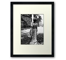 Angel Takes a Walk With Sorrow  Framed Print