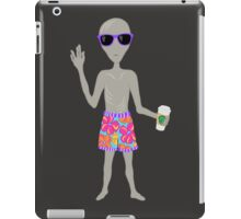 Awkward Alien Hipster With Coffee iPad Case/Skin