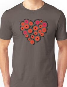 Flowers and Feathers Heart  Unisex T-Shirt
